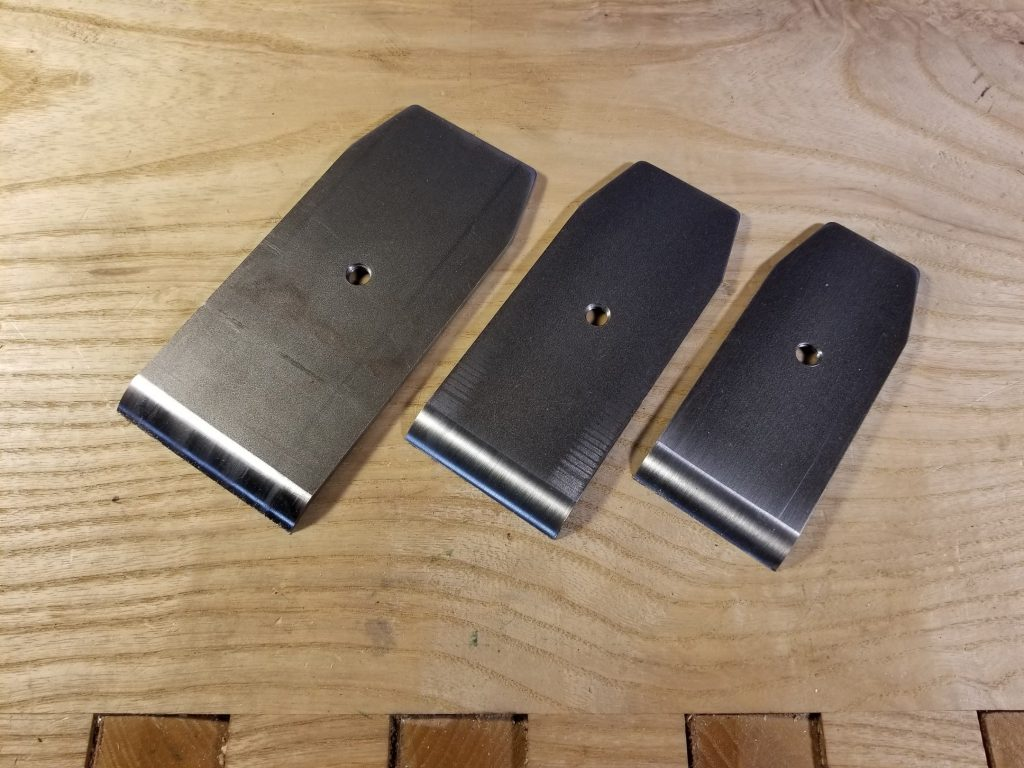 Three sizes available: From left, 2 1/2″, 2″, and 1 3/4″