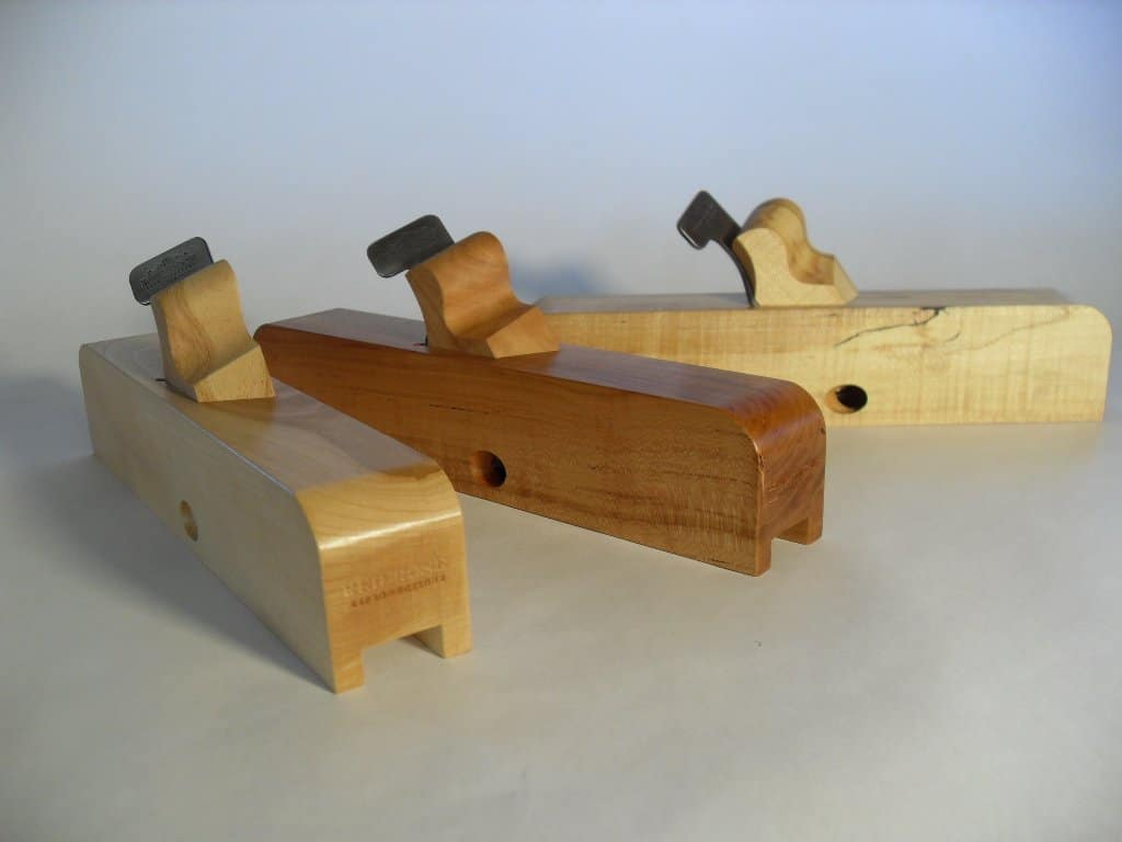 From left, American Beech, Black Cherry, and Spalted Maple